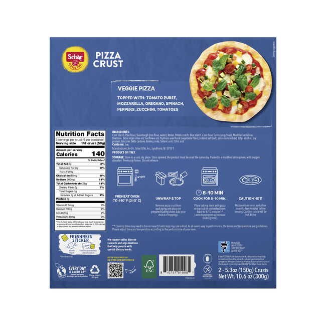 PIZZA CRUST 10.6 OZ F image number null