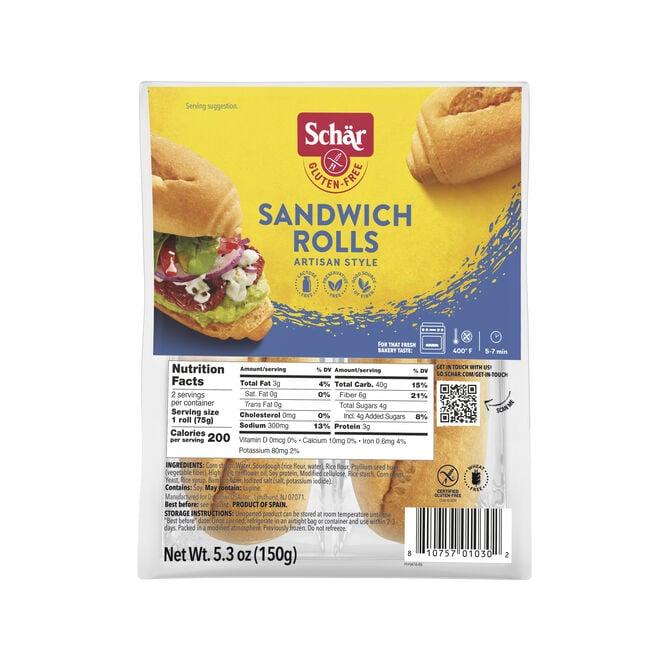 SANDWICH ROLLS 5.3oz